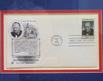 WINSTON CHURCHILL First Day Cover, Philatelic Cover, May 13, 1965