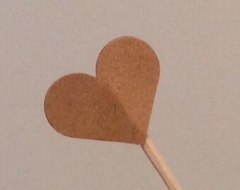 Kraft Heart Cupcake Topper