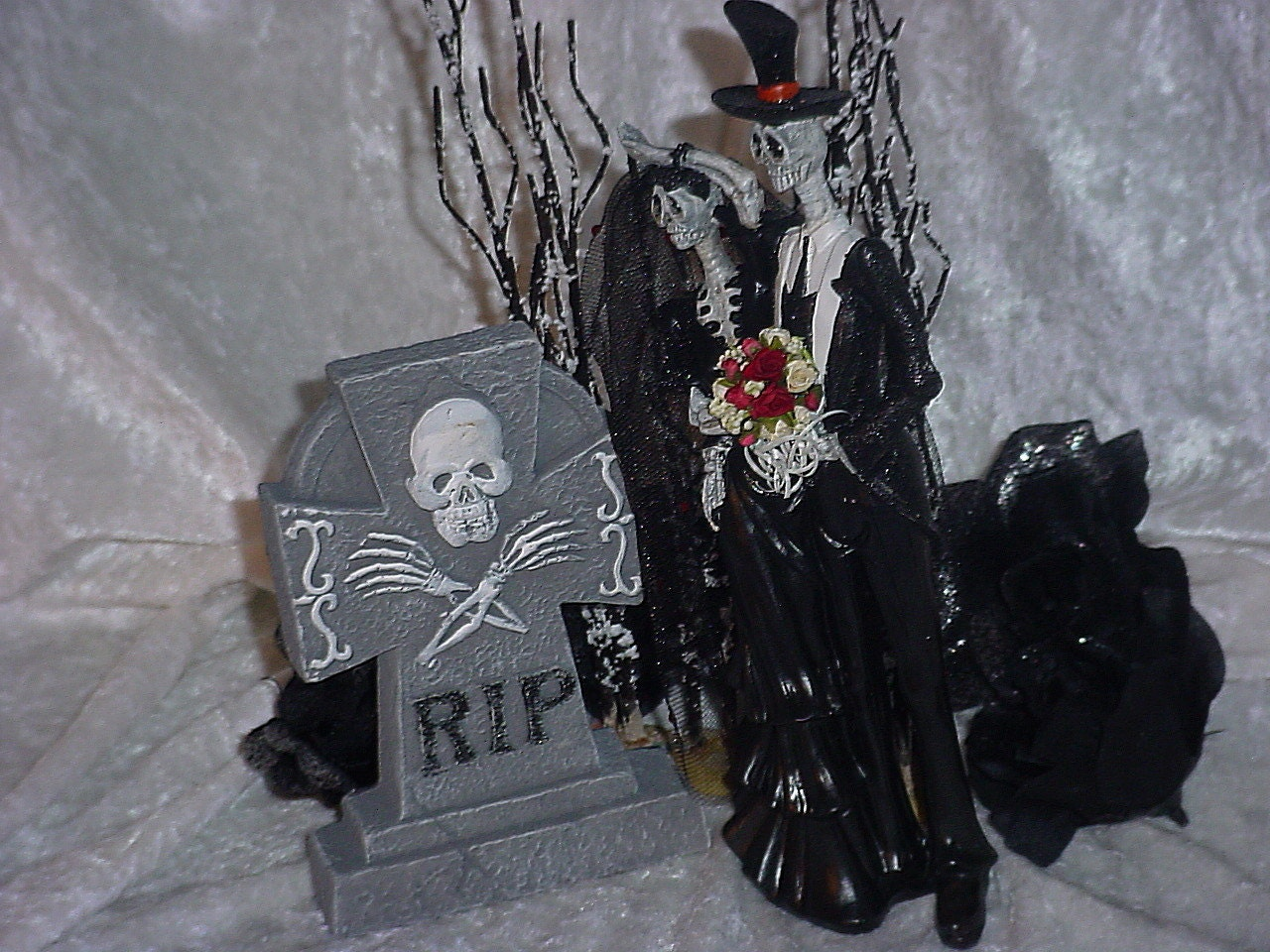 Halloween Wedding Cake Toppers Gothic Bride And Groom Love