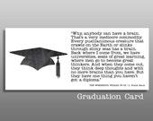 Wizard of Oz Quote, Graduation Card, funny graduation, college graduation, high school grad, congratulations, graduation quote, Baum quote