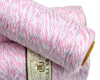 Pink Bakers Twine,  2ply,   315 Feet,   Cotton Twine,  Pink Twine, Bakers Twine, Craft  Twine, Scrapbooking- BT3