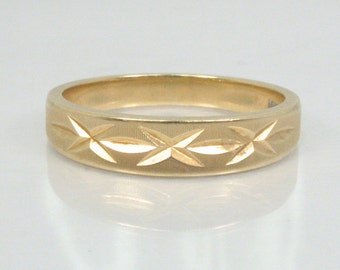 Vintage ArtCarved 14K Yellow Gold Womens Wedding Ring