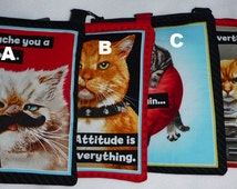 Cats: Divas and Tough Guys hipster or tablet tote