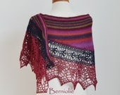 SAMMY, Crochet shawl pattern pdf