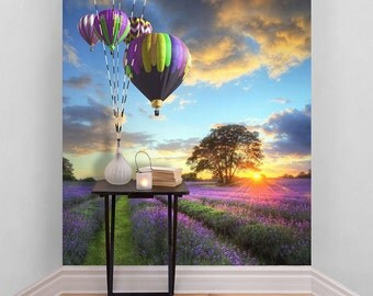 Hot Air Balloons Self Adhesive Wallpaper
