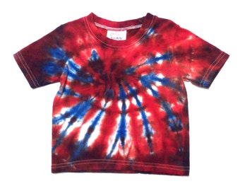 Baby tie-dye t-shirt, Size 9 Mos., red white blue fireworks