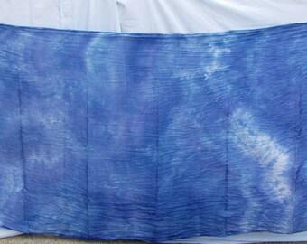 Silk Veil Blue White Bellydance