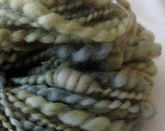 Beehive Coils ART YARN spring green mint Wool handspun artyarn 71 yards