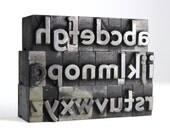 THE ALPHABET - 48pt Metal Letterpress - Bernhard Gothic