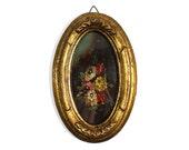 Original Vintage Floral Oil Painting - Tara Productions 1