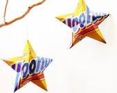 YooHoo Stars , Aluminum Can Recycled Cans, Soda Cans Ornaments, Yoo Hoo