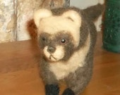 Cute as a button Needle Felted Ferret