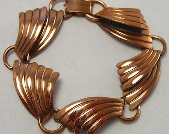 Southwestern Copper Bracelet & Earrings Vintage Bell Trading Post