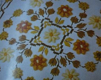 Spindel - som No. 262 - Crewel Floral Pillow Kit - Norway - 1980's