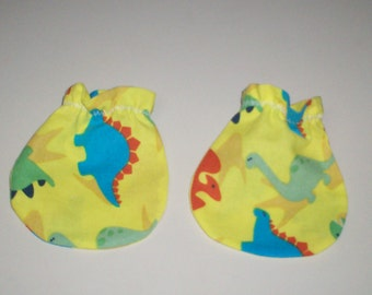 Bright and Fun Dino Baby Mitts