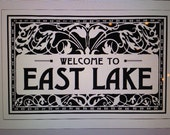 Welcome to East Lake deco style 9 x 12