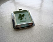Custom order clover in resin pendant for laurenwaits