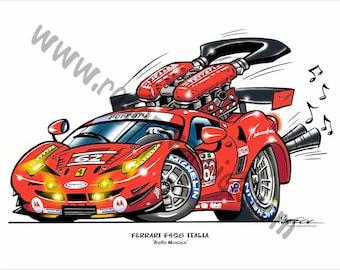 """Risi Ferrari 458 Italia """"Car-icature"""""""