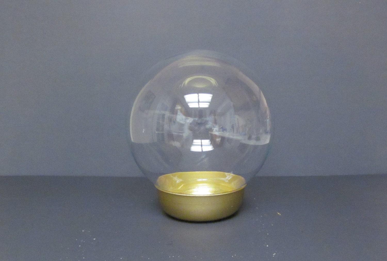 Vintage Flower Aquarium Glass Globe Water Globe Vase