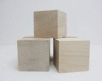 "2 1/2 inch wooden cube, 2 1/2"" wooden block, 2.5 inch unfinished wood cube, unfinished wood block Choose your quantity"