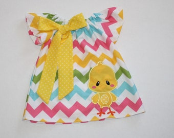 sweet chick Easter dress - Peasant dress - girls dresses - baby Easter dress - toddler Easter dress, sister dresses, 12, 18 mo 2t, 3t, 4T
