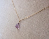 Amethyst Necklace, February Birthstone, Birthstone Necklace, Amethyst Drop, Purple Stone, Lavender Drop, Bridesmaid Necklace, Mothers Day