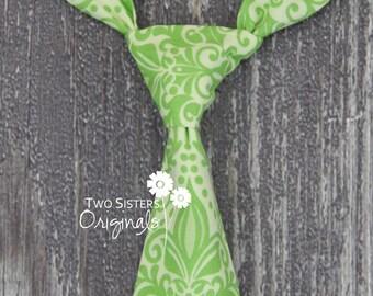 Christmas Neck Tie for Boys - Infant/Toddler/Child/Kid - Green Solstice