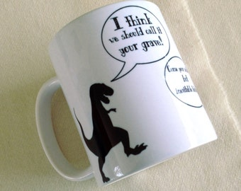 Curse your sudden but inevitable betrayal. Dinosaurs. Wash From Firefly and Serenity Quote Mug. 11 ounce Ceramic Mug, Dishwasher safe
