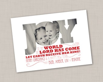 JOY to the WORLD Holiday Card (Religious)