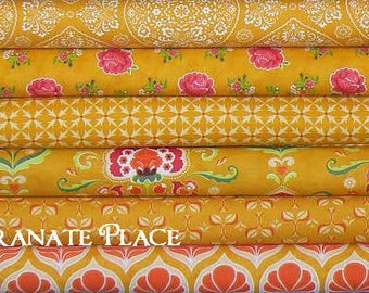 6 Fat Quarter Bundle Lily Ashbury..FANCY..collection..Golden..  colorway
