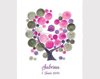 Baby Shower Anniversary Gift - Custom Hebrew writing CELEBRATION ANNIVERSARY print, wall decor