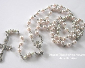 Light Pink  First Communion Rosary