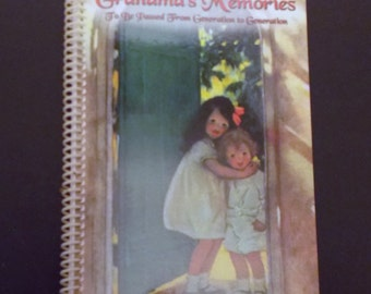 Grandma's Memory Book, Spiral Notebook, Writing Journal, Gift For Grandma, Scrapbook Diary, Keepsake Book, Custom Journal, Diary Scrapbook