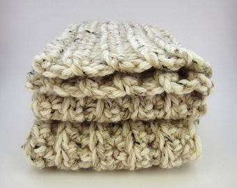 Chunky Cream Knit Scarf