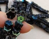 Black 6 Point Glass Beads 60% off, qty 125