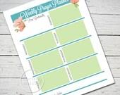 Prayer Planner Worksheet - Instant Christian Printable