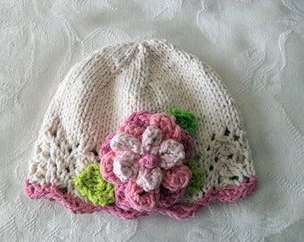 Baby Hats Knit Baby Hat Knitted Baby Hats knit baby hat baby girl clothing Cotton Knitted Baby Hat with Flower Newborn Baby Hat Knitted Lace
