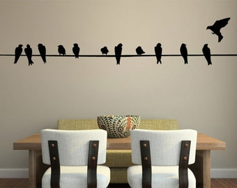 Birds Wall Decal EXTRA LARGE 11 FEET