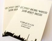 Washington DC Ceremony Program Wedding Handmade Folded Skyline Landmarks Custom Other Cities Available