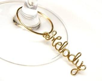 We Do Wine Charm, name wine charm, personalized wedding decoration, Personalized Wine Charm