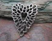 Filigree Heart Pendant from Green Girl Studios