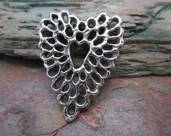 Filigree Heart Pendant from Green Girl Studios