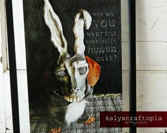 Dachshund Donnie Darko Print Poster