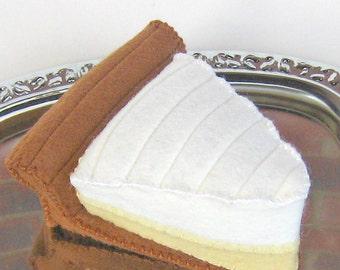 Wool Felt Play Food - Lemon Pie