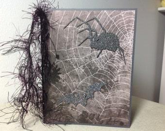 Halloween Spider and Bat Handmade Card