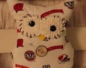 """Owl """"Mr Hoot"""" Wisconsin Badger"""