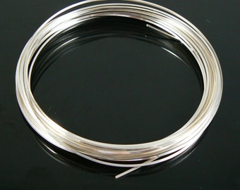 21 gauge non-tarnish silver plated square wire by The Bead Smith, 4 yds.