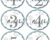 Monthly Milestone Hot AIr Balloon Printable Labels