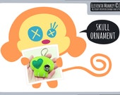 Skull PDF Pattern & Tutorial - Felt Plush Skull DIY