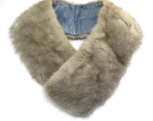 Grey Mink Coat Collar Vintage 1950s Pale Mink Collar